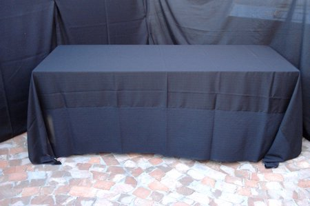 Black table cloth 3 2 x full lenght shown on 8 for 10 seater table cloth
