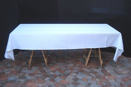 White damask table cloth 3 x shown on 8 seater table for 10 seater table cloth